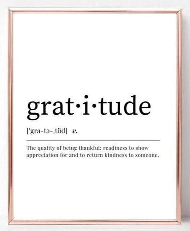 Gratitude poster - Ritual Routine & Permission